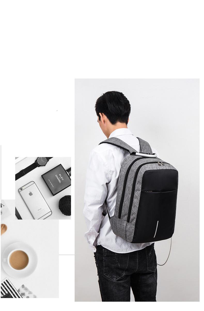 Balo laptop nam nữ thời trang công nghệ có cổng USB, phản quang và mã khóa 4