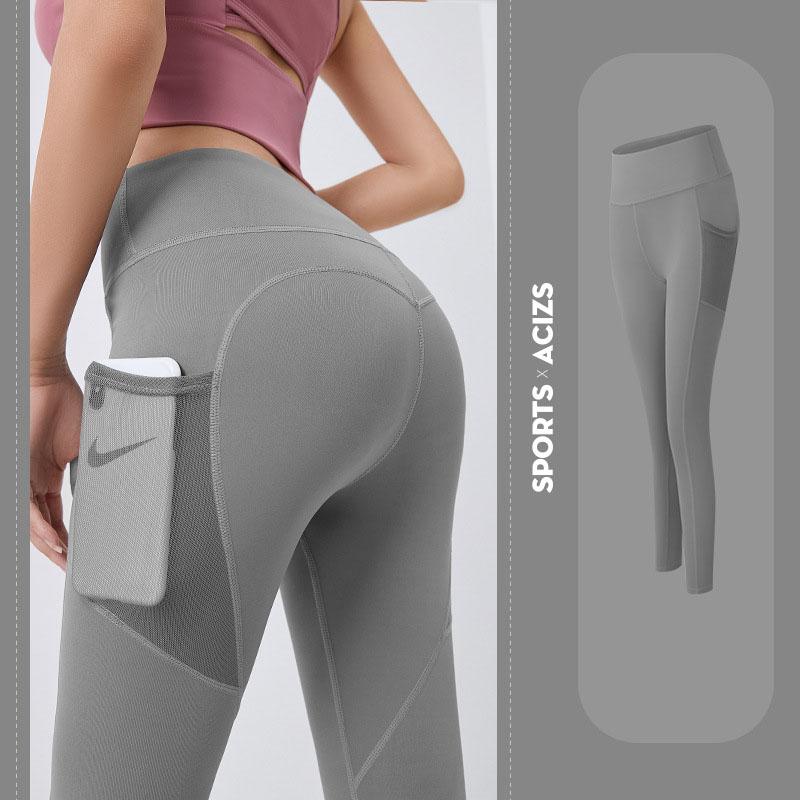 Quần thể thao nữ quần legging co giãn nhanh khô, túi hai bên phối lưới, quần yoga chạy bộ mã MTCK9016 12