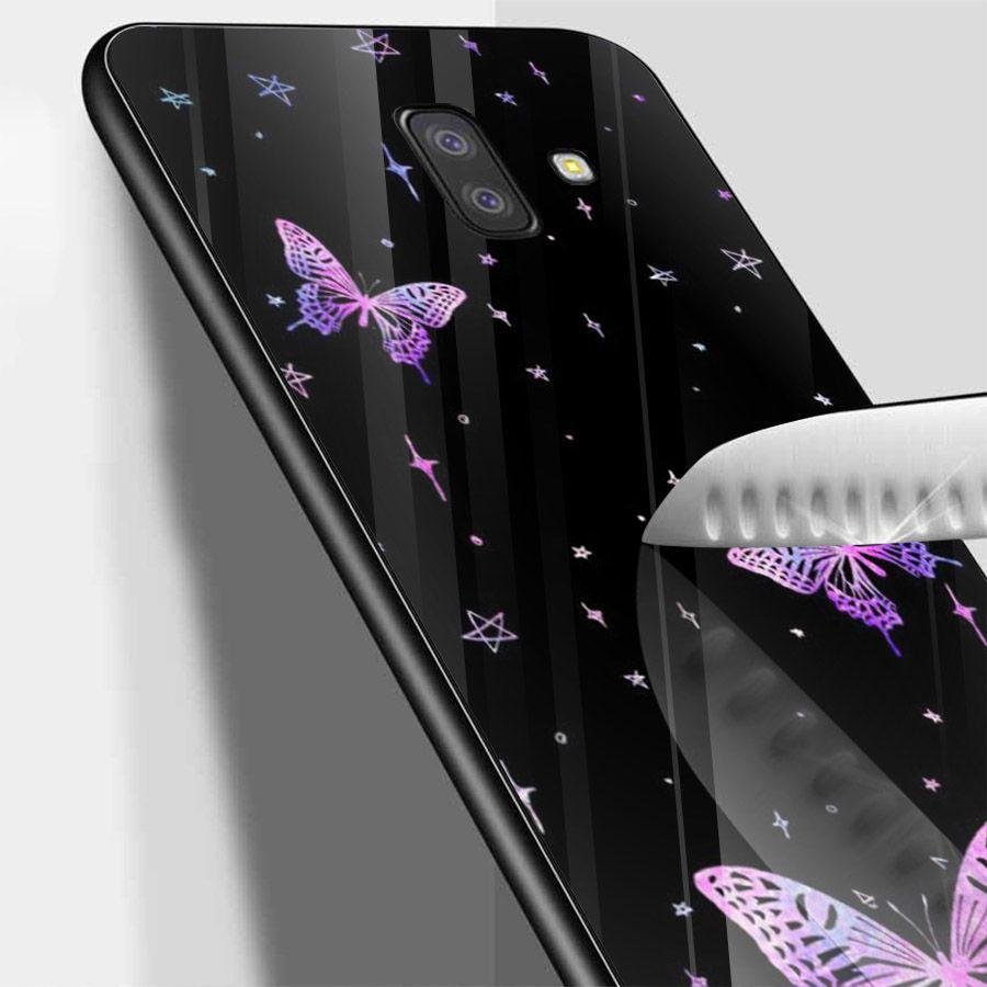 Ốp kính cường lực cho điện thoại Samsung Galaxy J4 - J6 - J6 PLUS - J6 PRIME - J8 - bướm đẹp MS ANH063