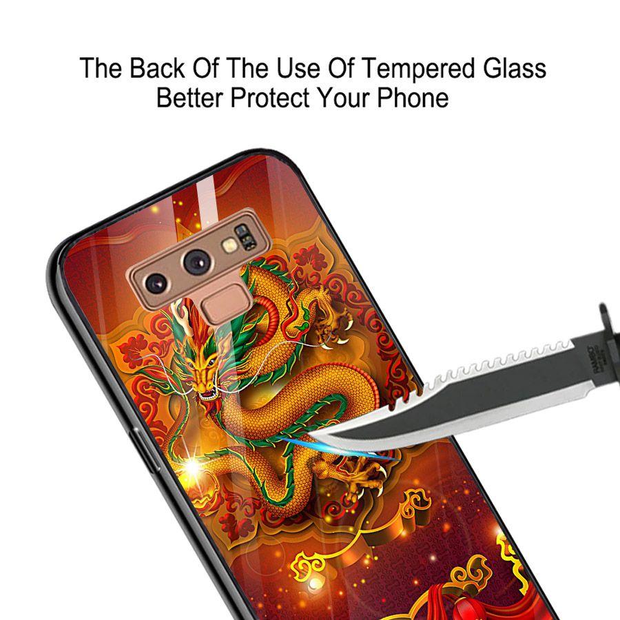 Ốp kính cường lực cho điện thoại Samsung Galaxy Note 8 - long hổ MS LONG018