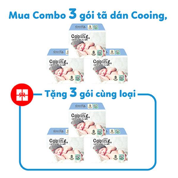 Combo 3 Gói Tã Dán Cooing S70