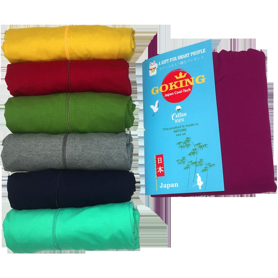 Áo khoác nữ thoát nhiệt Nhật Bản GOKING, áo chống nắng 100% cotton thoáng mát, thấm hút mồ hôi 9