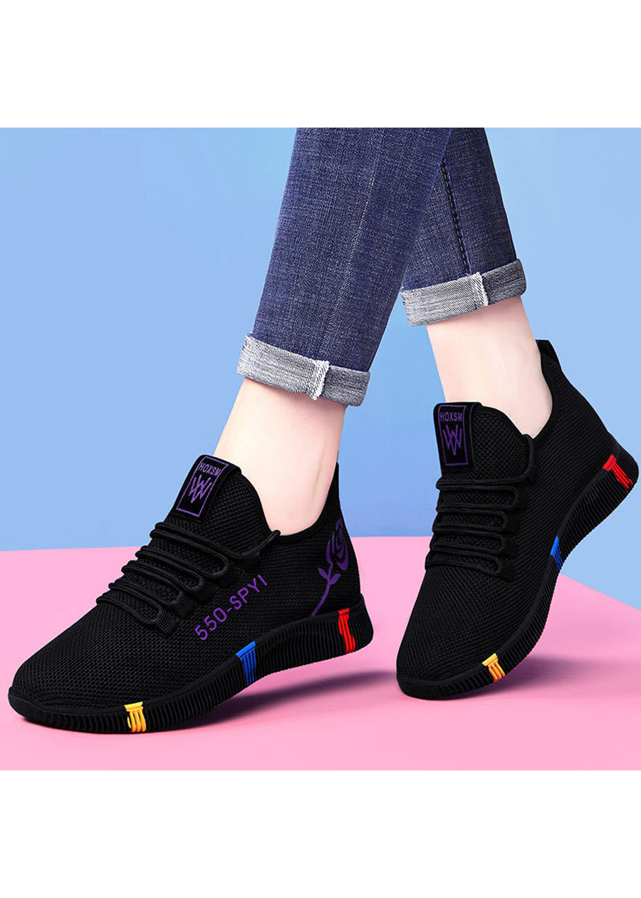 Giày sneaker nữ thời trang mới nhất buộc dây siêu nhẹ V245 1