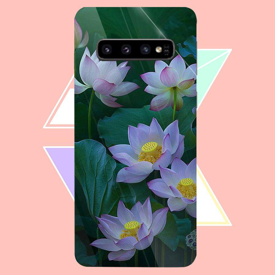 Ốp điện thoại kính cường lực cho máy Samsung Galaxy S10 Plus - Đủ nắng thì hoa nở MS DNTHN034