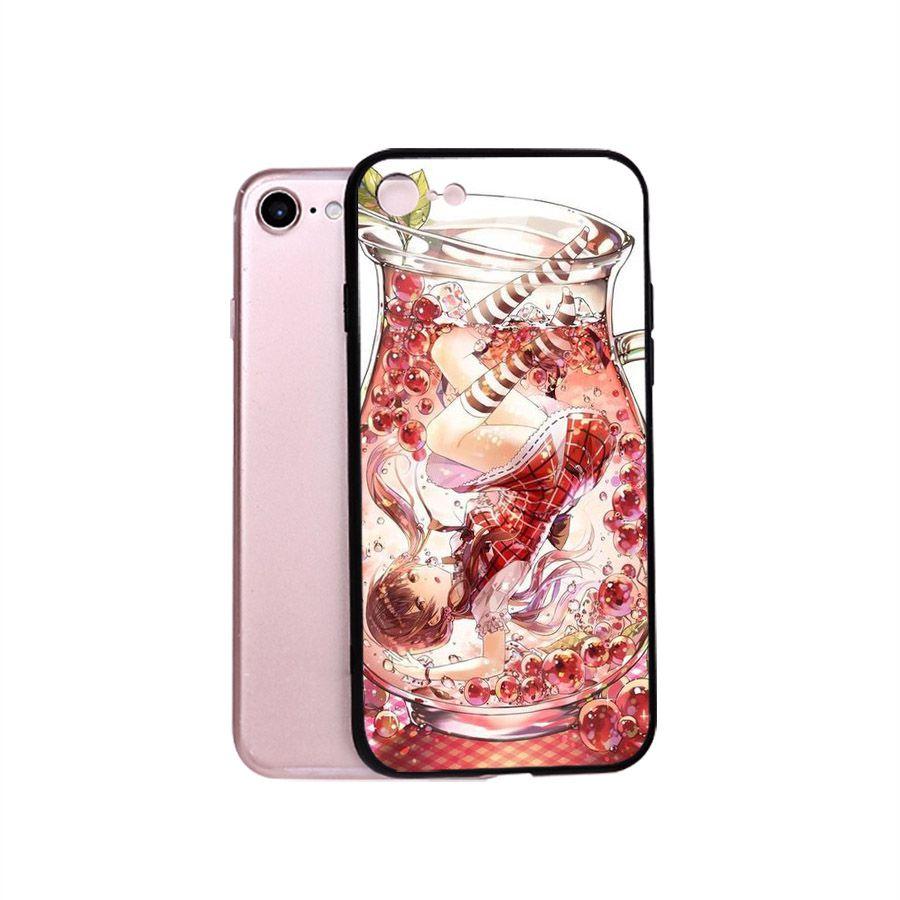 Ốp điện thoại kính cường lực cho máy iPhone 5/5s/se - Cô Bé Trong Chiếc Lọ Thủy MS CBTCL028
