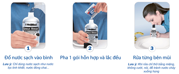 Bình Rửa Mũi Xoang Người Lớn NeilMed SinusRinse Adult Kit