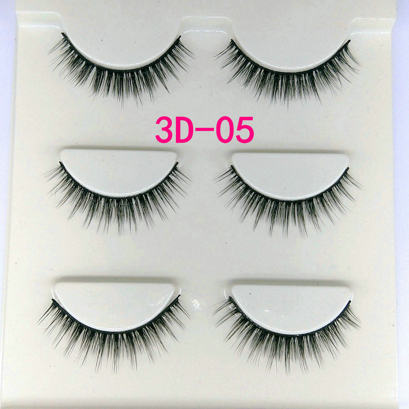 Lông mi giả lông chồn 3 Fashion Eyelashes 3 Faux-Cils 3D 1 bộ 3 cặp 19