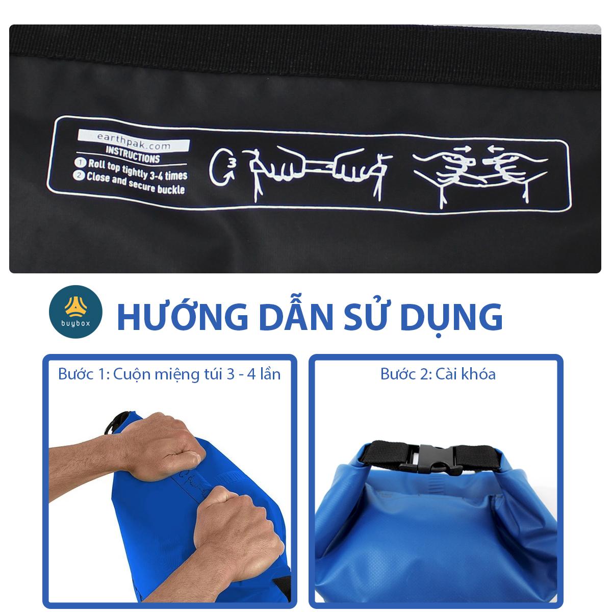 Dễ dàng sử dụng Balo chống nước đi phượt chất liệu 500D PVC sản xuất tại Việt Nam - 10L, 20L, 30L, 40L, 55L - buybox - BBPK161