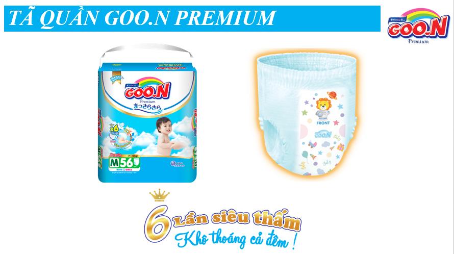 Tã quần Goon Premium cao cấp gói siêu đại XL52 (12kg ~ 17kg) + Tặng thêm 10 miếng cùng size
