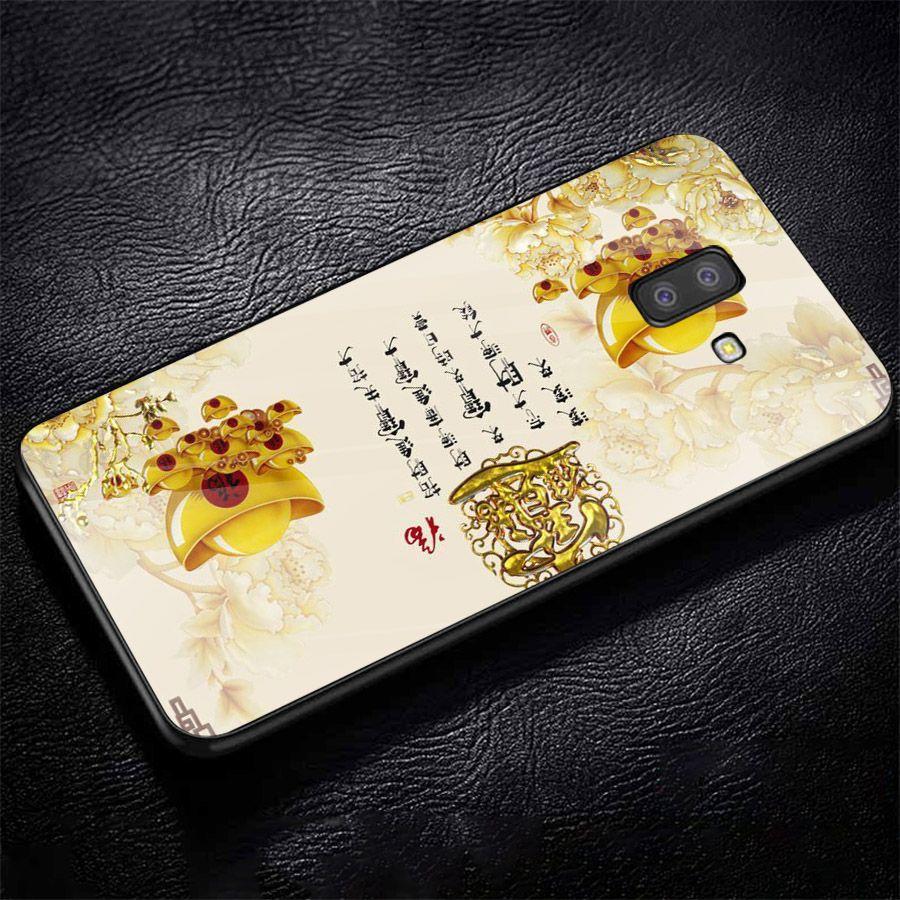 Ốp kính cường lực cho điện thoại Samsung Galaxy J8 - thần tài kim MS TTKIM044