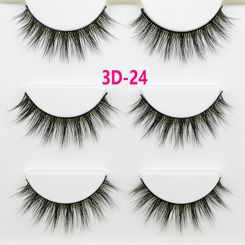 Lông mi giả lông chồn 3 Fashion Eyelashes 3 Faux-Cils 3D 1 bộ 3 cặp 94