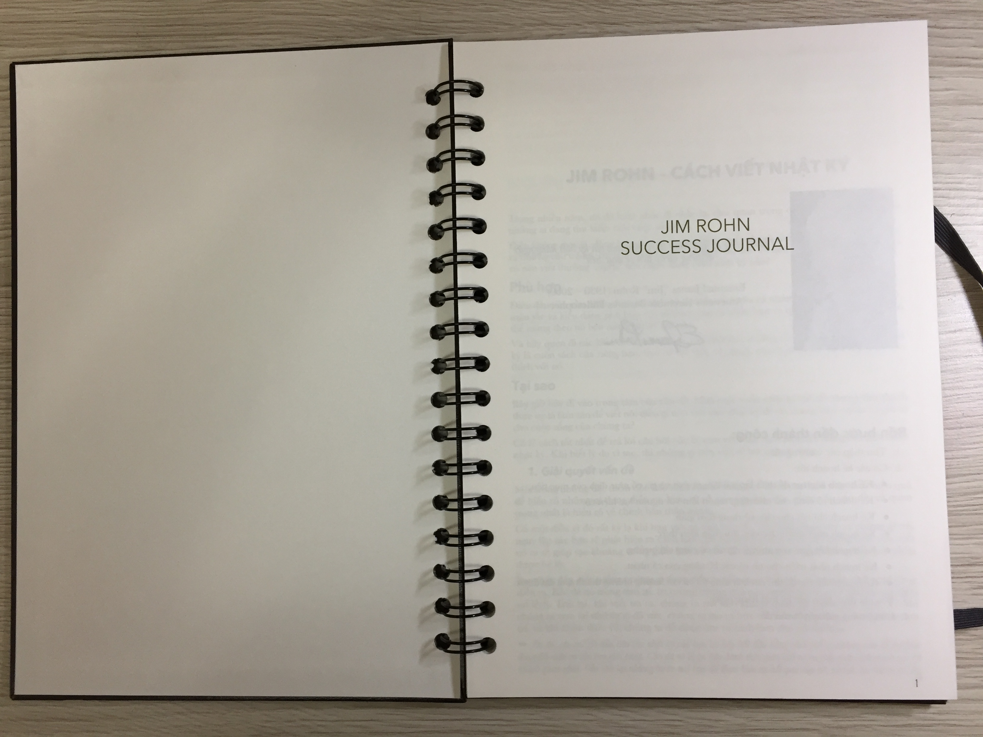 Jim Rohn - Nhật ký thành công - trang đầu