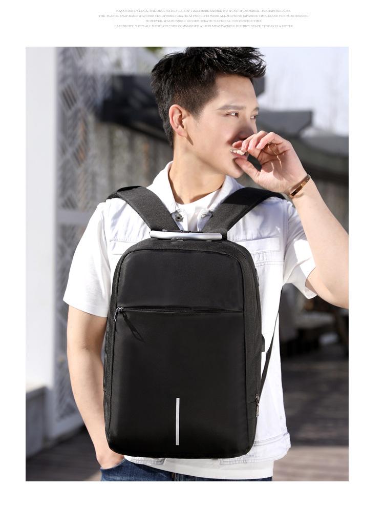 Balo laptop nam nữ thời trang công nghệ có cổng USB, phản quang và mã khóa 1