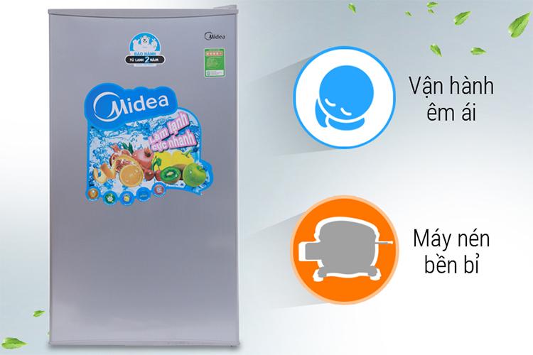Tủ Lạnh Mini Midea HS-122SN (93L) - Xám Bạc