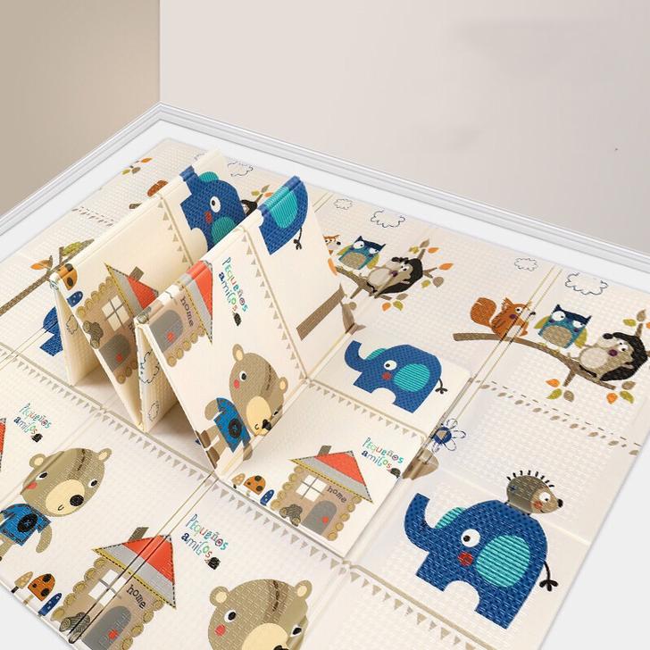 Thảm chơi cho bé Công nghệ Hàn Quốc phủ silicon chống thấm 2 mặt, nhiều mẫu 10