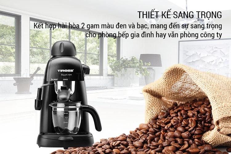 Máy Pha Cà Phê Espresso Tiross TS620 - Hàng Chính Hãng