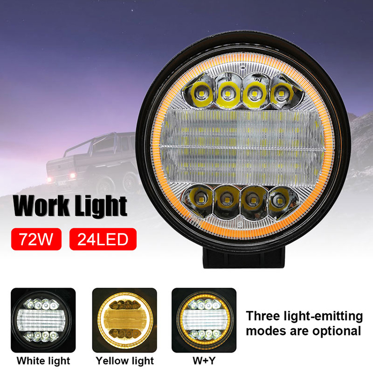 Driving Light Led Work Light Super Bright 2Color Light Off-Road Lights ATV Forklift
