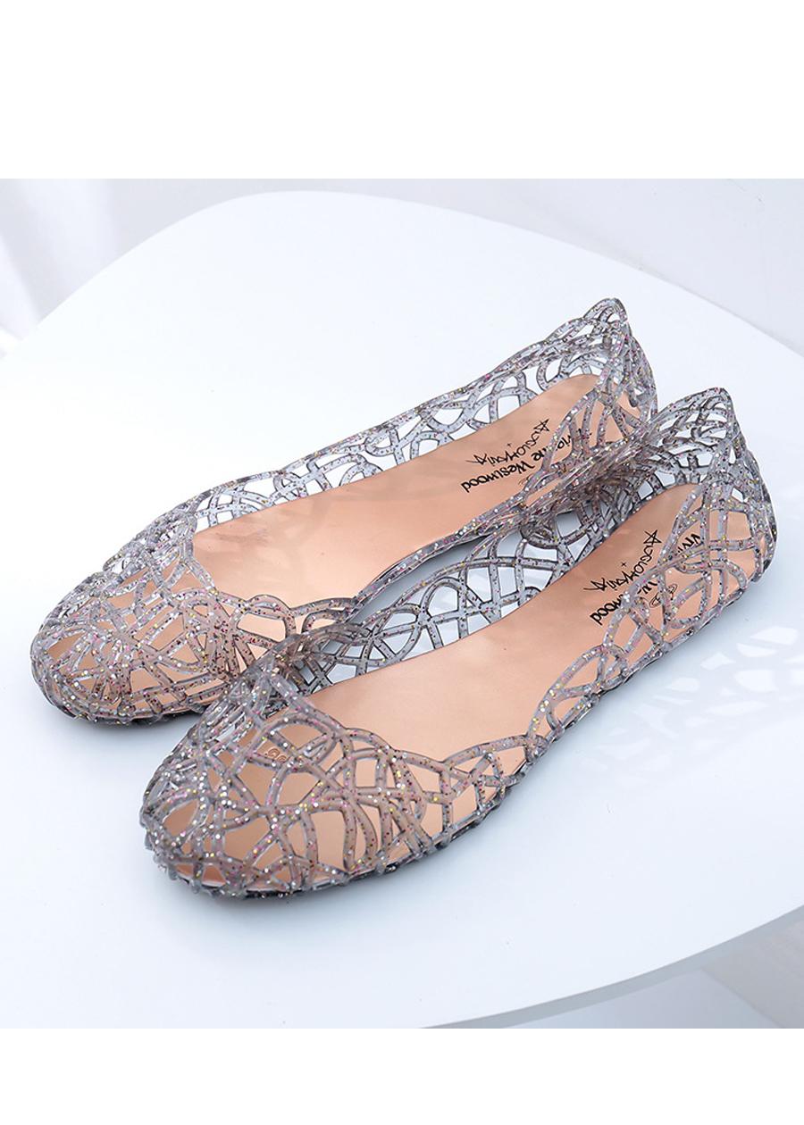 Giày búp bê nữ đế bằng nhựa đi mưa siêu bền đi thoáng và êm chân full size nhiều màu V217 6