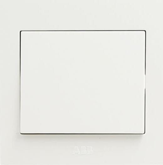ABB switch socket panel three open dual control switch Yongzhi series white AH107