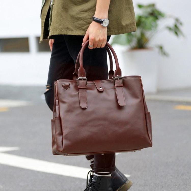 Men business tote bag crazy Horse Leather Large Capacity Trendy Casual handbag