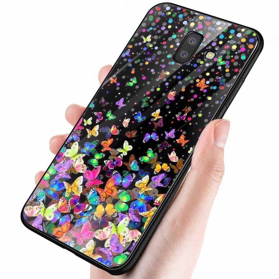 Ốp kính cường lực cho điện thoại Samsung Galaxy J4 - J6 - J6 PLUS - J6 PRIME - J8 - bướm đẹp MS ANH027