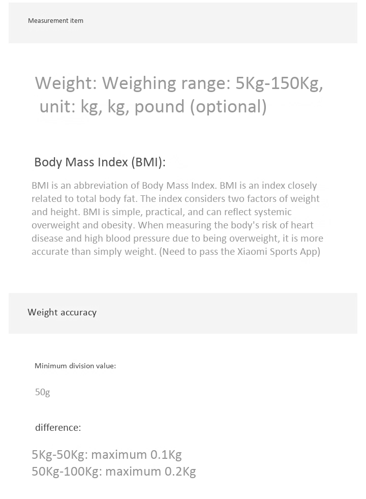 Cân Sức Khỏe Điện Tử Thông Minh Xiaomi Millet Body Fat Scales 2