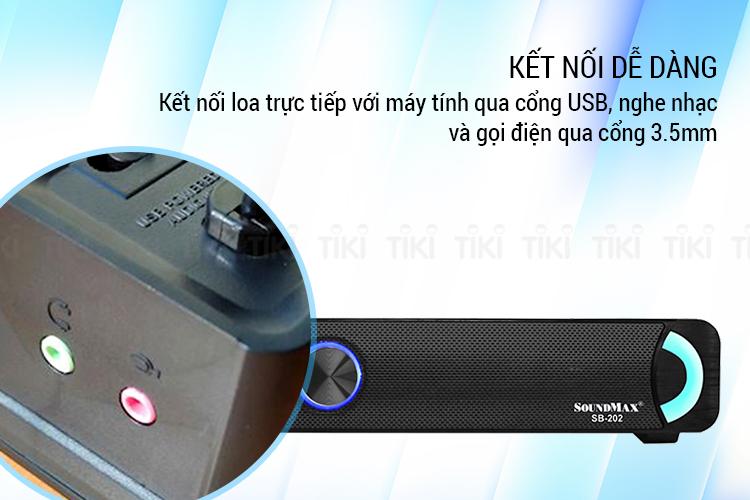 Loa Soundbar Soundmax SB202 2.0 - Hàng Chính Hãng