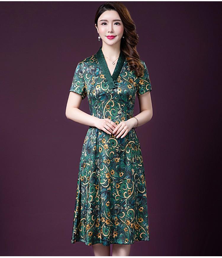 Đầm quý bà lụa Cao Cấp Sang Trọng - HATI DN9046 1