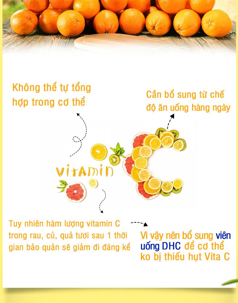 Combo SÁNG DA - MỜ THÂM DHC Nhật Bản gồm viên uống vitamin C và viên uống trắng da 30 ngày JN-DHC-CB1 11