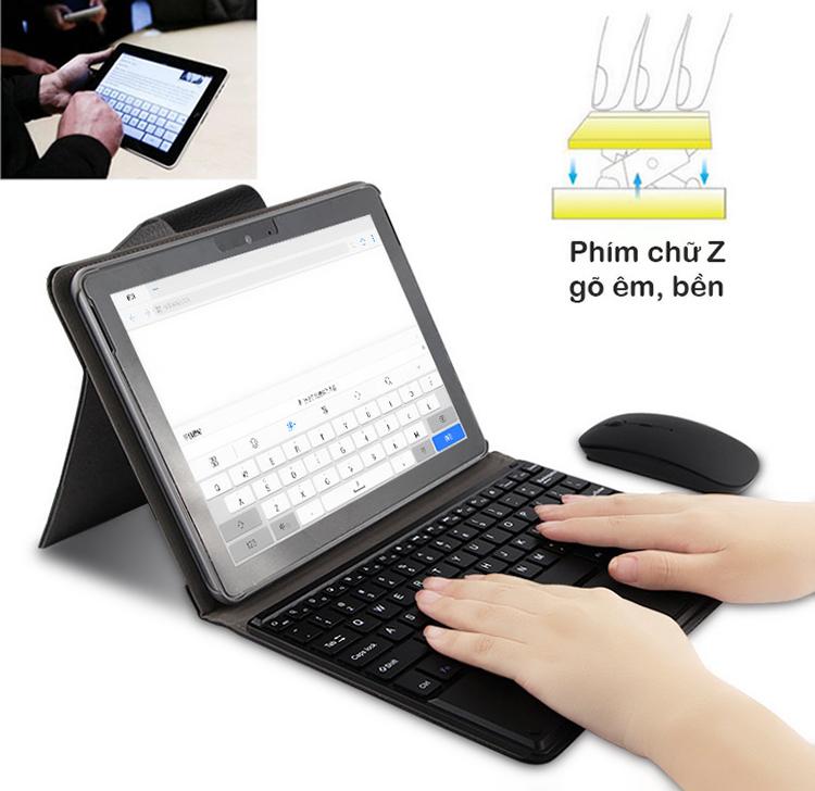 Bàn phím Bluetooth tích hợp chuột touchpad kèm bao da cho Surface Go Promax TFGO