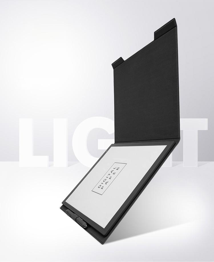 Duochi e-book cover for Sony DPT-RP1 e-paper reader SONY paper book case protective microfiber dark gray