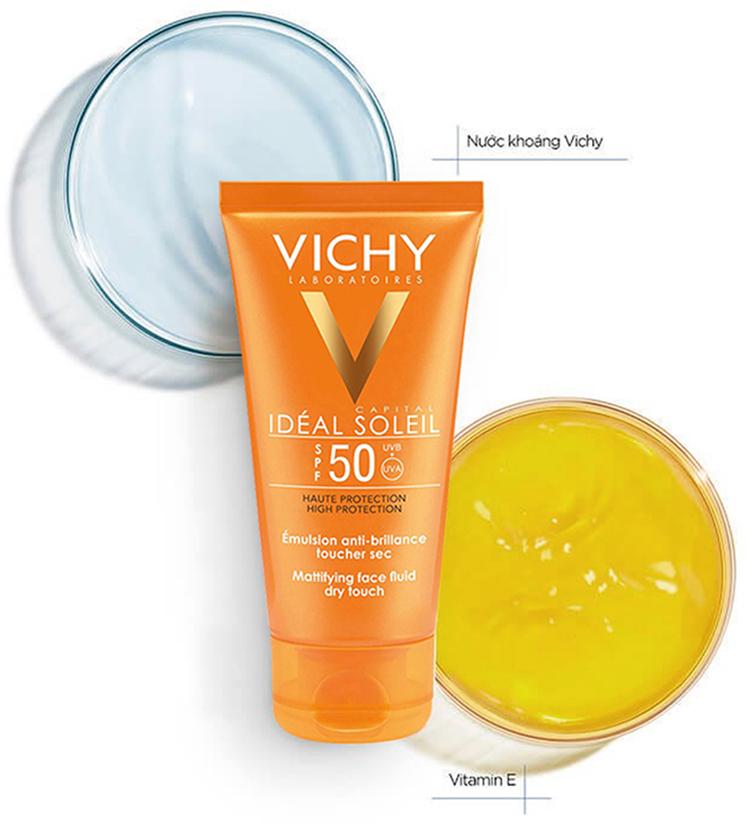 Kem Chống Nắng Không Gây Nhờn Rít Vichy Ideal Soleil Dry Touch 50Ml 100986474
