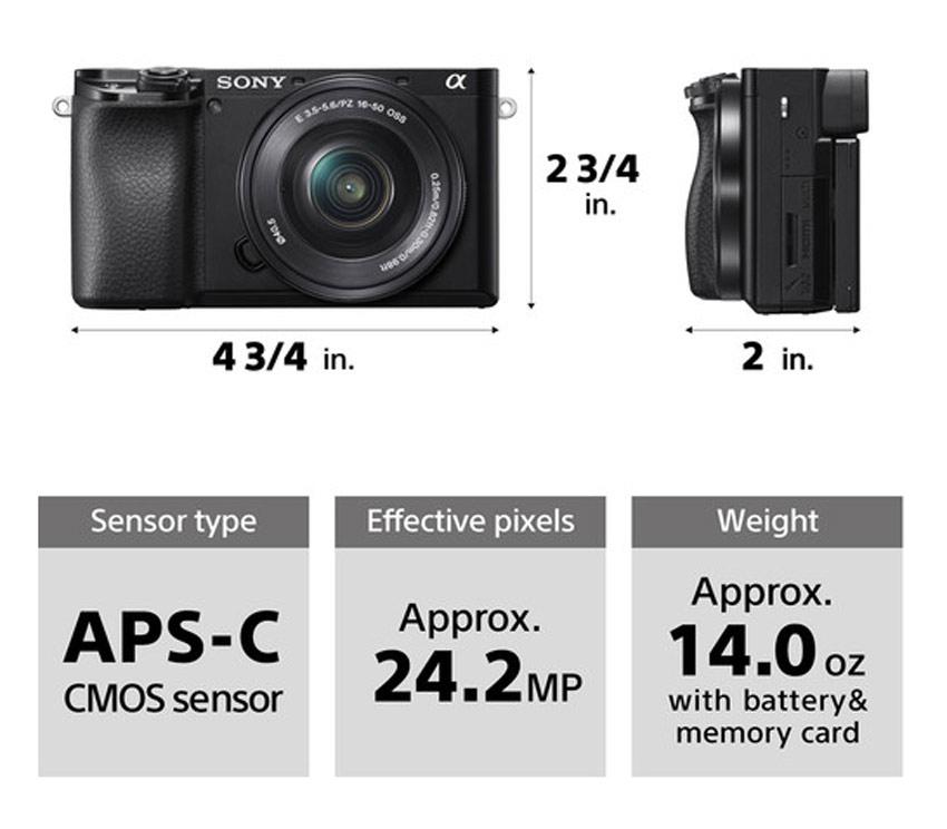 Máy Ảnh Sony Alpha A6100 Kit 16-50mm (Bạc) - Hàng Chính Hãng = 17.990.000đ