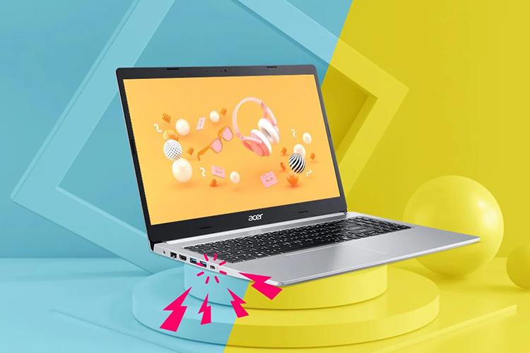 Laptop Acer Aspire 5 A514-53G-513J NX.HYWSV.001 (Core i5-1035G1/ 8GB (4GB x2) DDR4 2666MHz/ 512GB SSD M.2 PCIE/ MX350 2GB GDDR5/ 14 FHD IPS/ Win10) - Hàng Chính Hãng