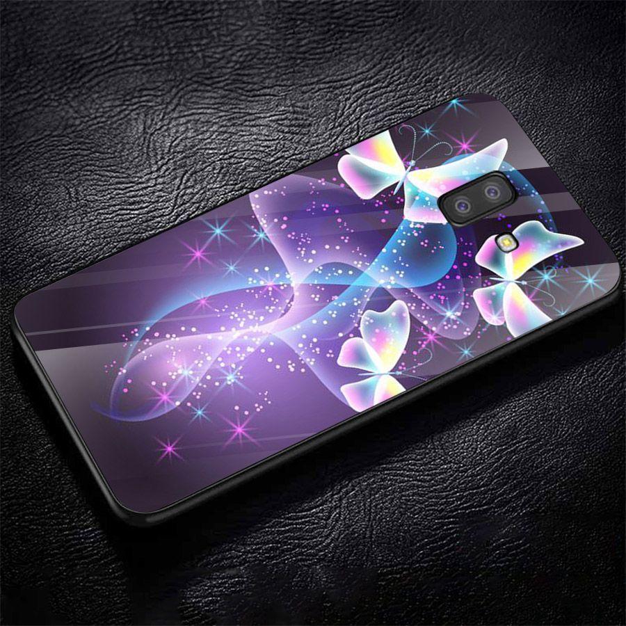Ốp kính cường lực cho điện thoại Samsung Galaxy J4 - J6 - J6 PLUS - J6 PRIME - J8 - bướm đẹp MS ANH089