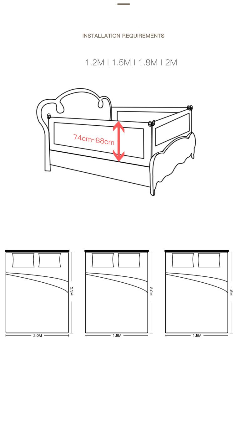 Chắn giường bảo vệ Bé mẫu mới nhất 2020 Màu Kem vui nhộn, số lượng 01 thanh- tặng gói khăn sữa cao cấp 3