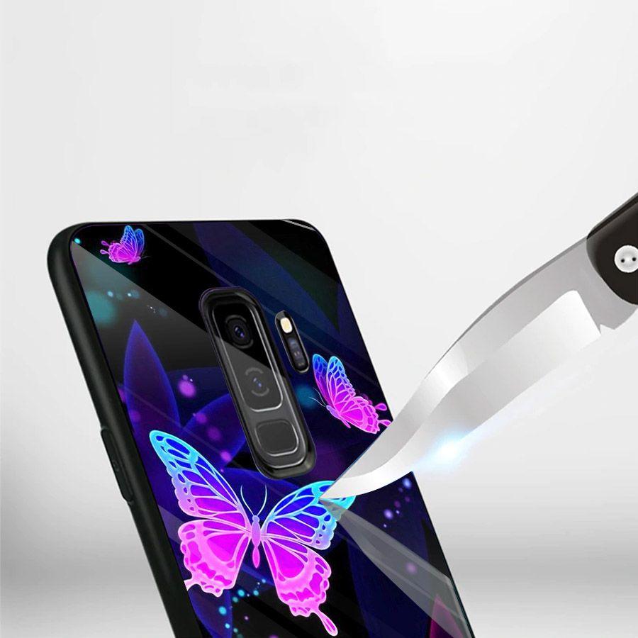 Ốp kính cường lực cho điện thoại Samsung Galaxy S9 Plus - bướm đẹp MS BUOMD080