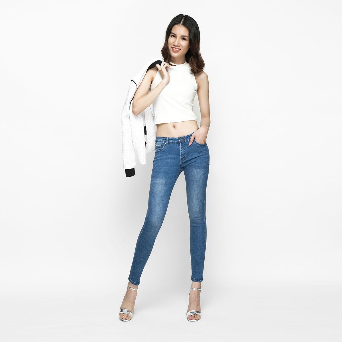 Quần Jean Nữ Skinny Lưng Vừa Aaa Jeans Có Nhiều Màu Size 26 - 32 14