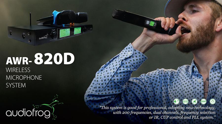Micro Karaoke Không Dây AudioFrog AWR-820D - Hàng Chính Hãng