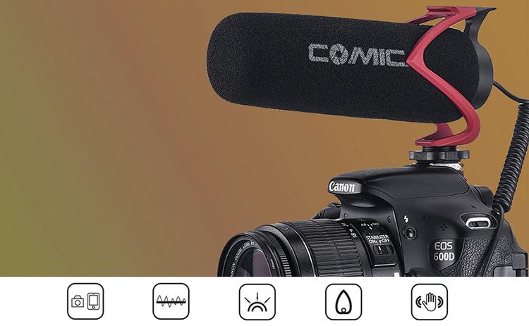 Micro shortgun cho smartphone, máy ảnh Comica CVM-V30 LITE