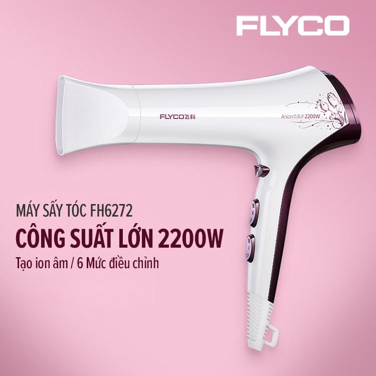 Máy Sấy Tóc Công Suất Cao Tạo Mẫu Tóc Chuyên Nghiệp FLYCO Negative Ionic 2200W FH6272