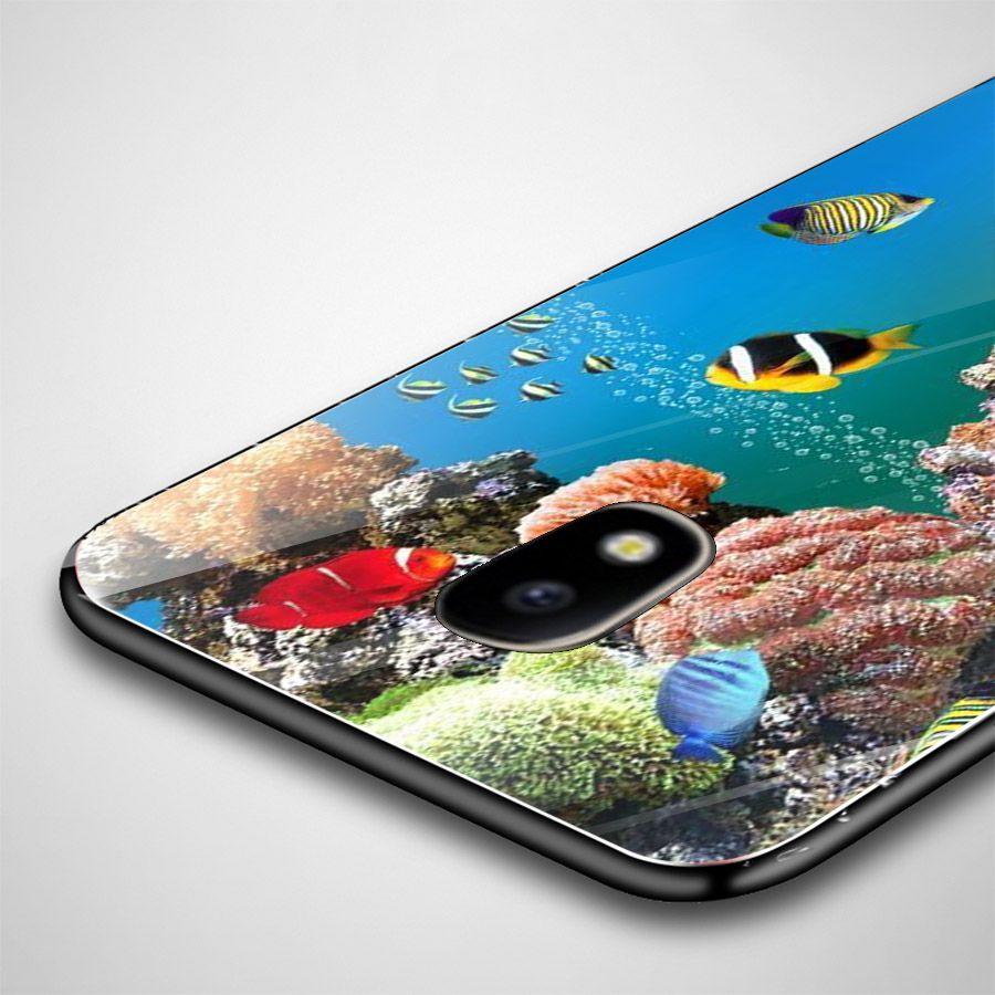 Ốp kính cường lực cho điện thoại Samsung Galaxy J7 - bộ sưu tập cá MS BSTCA046