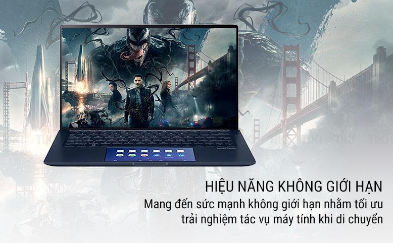 Laptop ASUS Zenbook UX434FAC-A6064T (Core i5-10210U/ 8GB LPDDR3 2133MHz/ 512GB SSD M.2 PCIE/ 14 FUD IPS/ Win10) - Hàng Chính Hãng