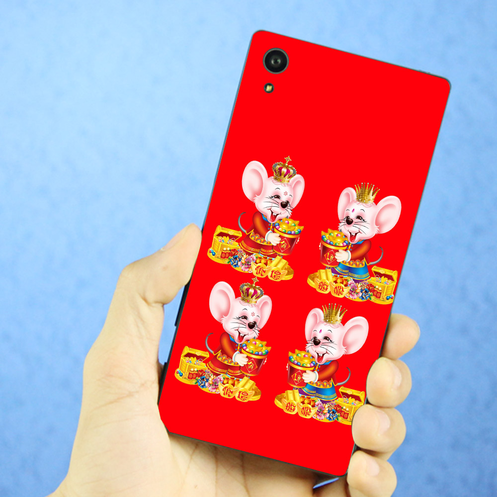 Ốp lưng cứng viền dẻo dành cho điện thoại Sony Xperia XA1 - Chuột thần tài 06 MS CTT06