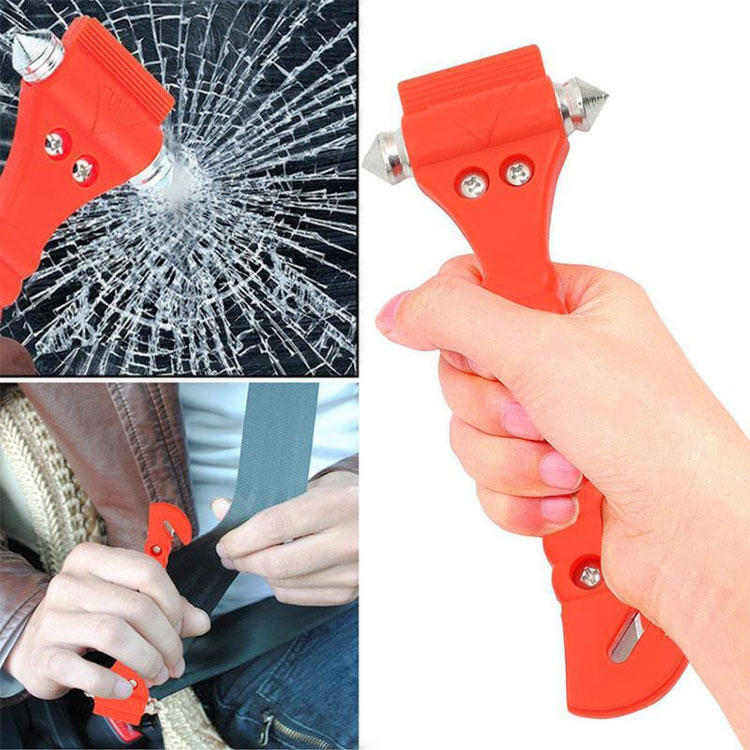 2 piece car safety hammer, window breaker and seat belt cutter 2-in-1 emergency escape tool hammer Type: 2 pieces