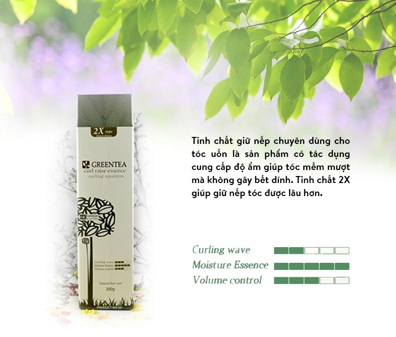 Tinh Chất Trà Xanh Dưỡng Giữ Nếp Tóc Uốn Haken Green Tea Curl Raise 2X essence Chính Hãng 50g 6