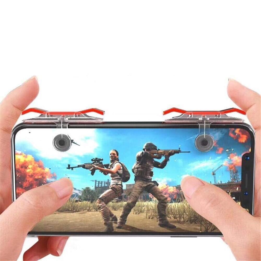 Bộ 2 Nút Chơi Game Pubg Mobile, Ros, Cf Dòng E9 Trong Suốt (Đỏ Hoặc Bạc) 17