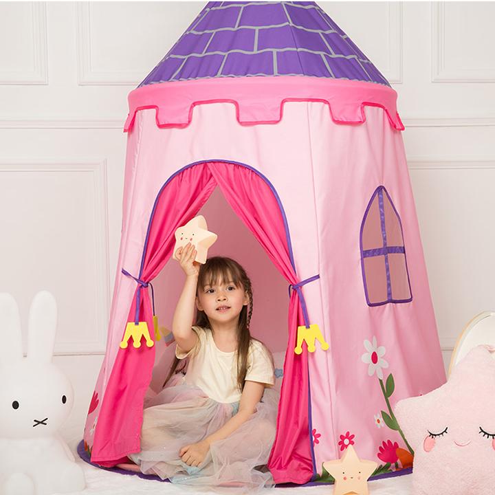 Lều hoàng tử - công chúa cho bé có đèn, lều cho bé PR001 (giao màu ngẫu nhiên) 4