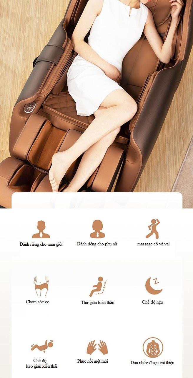 thư giãn Ghế massage toàn thân 4D KS 669