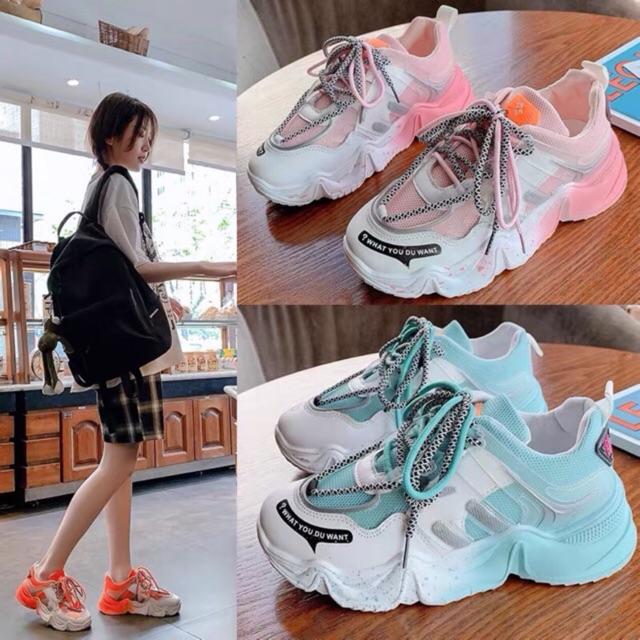 Giày thể thao sneaker nữ WHDYW màu sắc siêu đẹp, thời trang, nhẹ nhàng êm chân 1